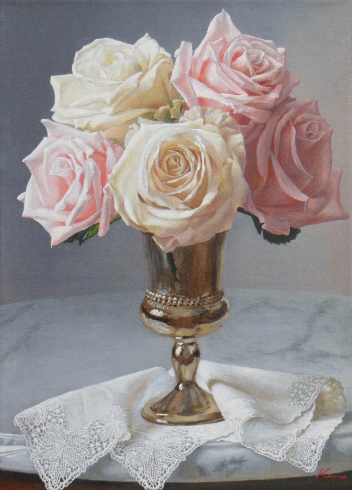 F4号題名「銀と薔薇2」