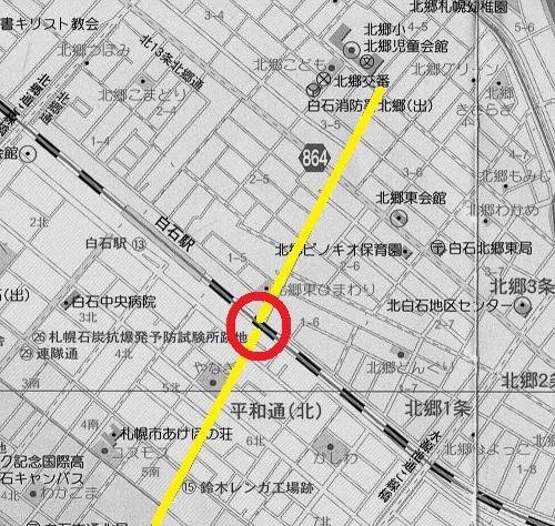 JR白石駅周辺 現在図