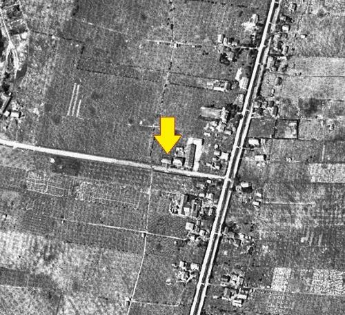 1948年空撮 平岸苹果共同撰果場
