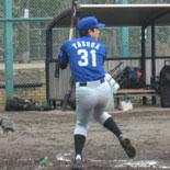 4回表、安田が適時二塁打を放ち同点