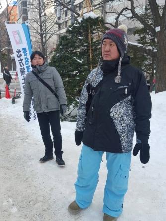 札幌雪まつり北方領土返還要求署名活動 (1)