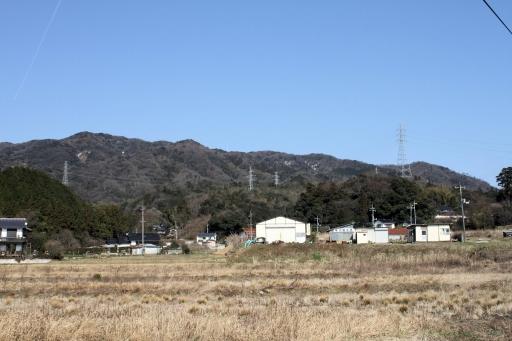 比加夜神社あたりから見た澄水山