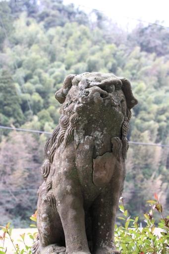 新宮神社の狛ワンコ