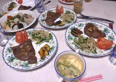 2日の夕食