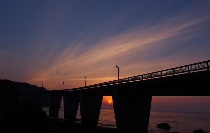 夕景 大明神橋