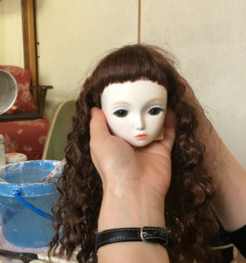 20160311 球体関節人形 メイク