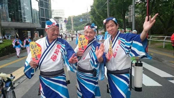 神戸楠公連 ベテラン男踊り三人衆