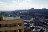 神戸市営住宅・ベルデ名谷、最高層階から明石海峡方面を望む