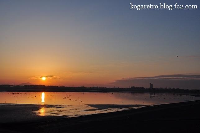 渡良瀬遊水地の朝日(3)3