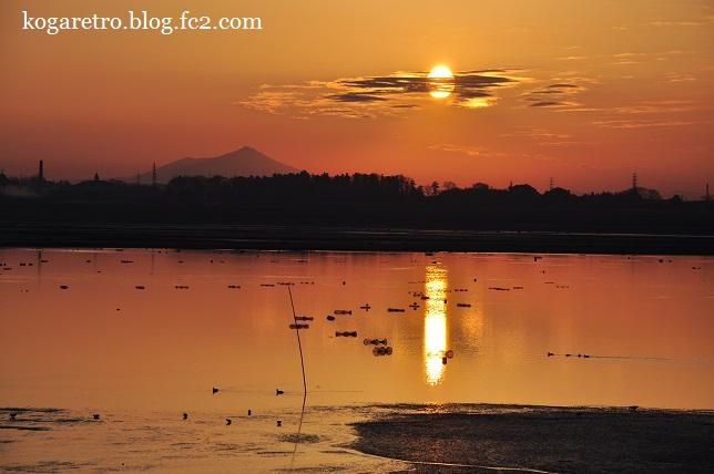 渡良瀬遊水地の朝日(3)4