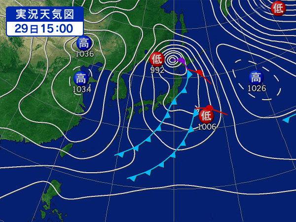 2月29日 県南の天気図