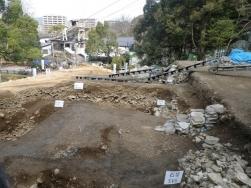 敷地拡張の石垣