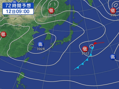 12日天気図