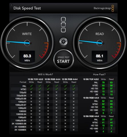 DiskSpeedTest san64