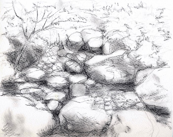 小さな渓谷 デッサン (700x554)