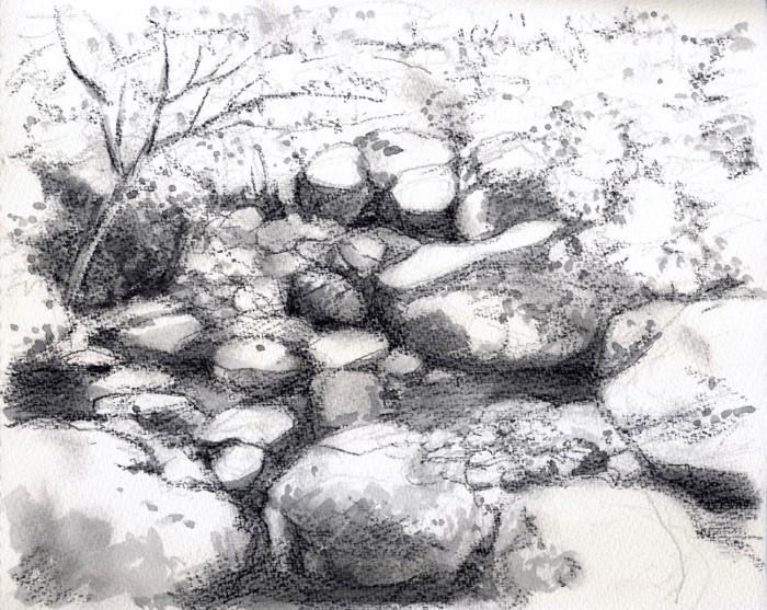 小さな渓谷 グリザイユ (700x557)