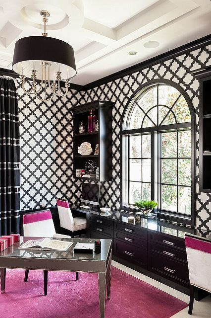 Transitional-black-and-white-home-office-infused-with-a-splash-of-Fuchsia.jpg