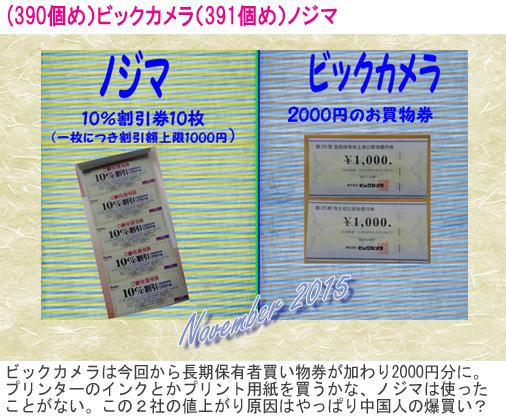 (390)(391)2015年11月到着 ビックカメラ&ノジマ のコピー