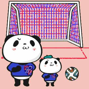 パンダ サッカー