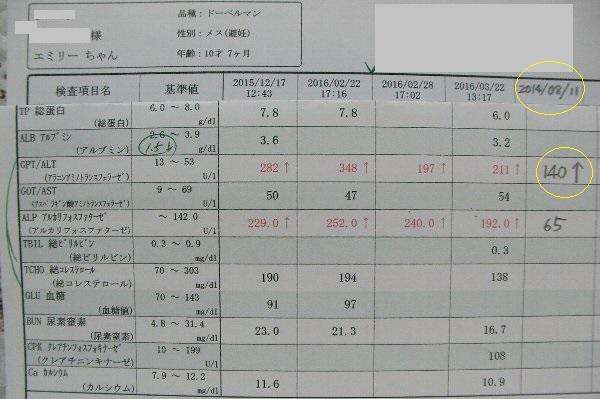 20160322腹水血液検査比較①-1
