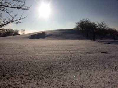 公園雪景色