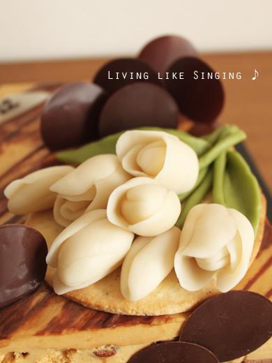 杏ちゃん12歳キャラメルとチョコのムースケーキ②