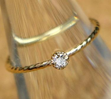 ダイヤモンドミラーアンティークリング
