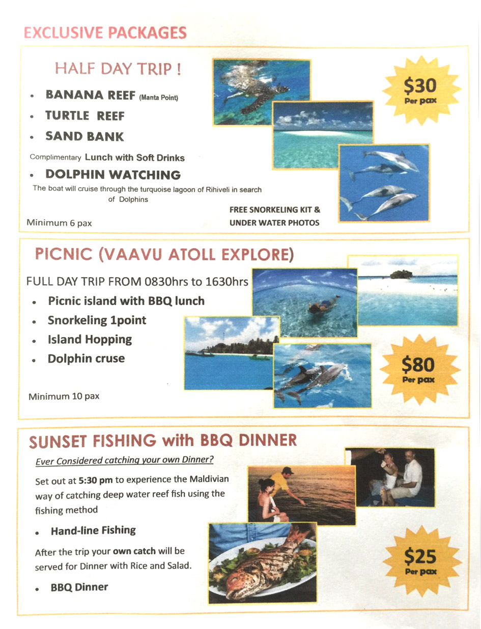 EXCLUSIVE PACKAGES RESORT TRIPS 2