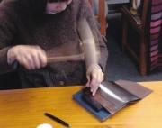 八田さん手提げ制作縫い目づくり