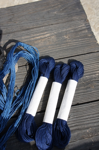 160311藍染めこぎん糸