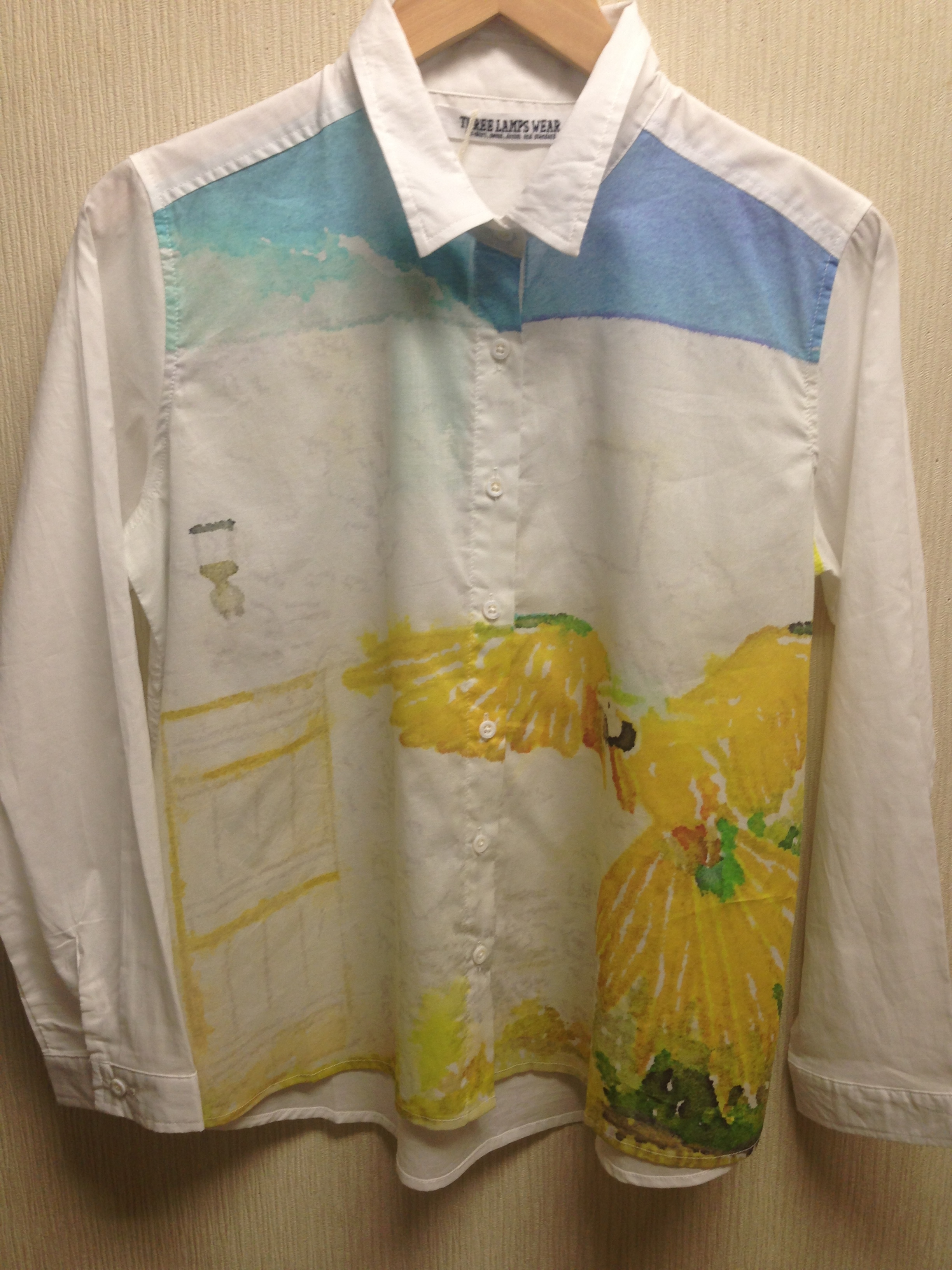 松川さん水彩画シャツ