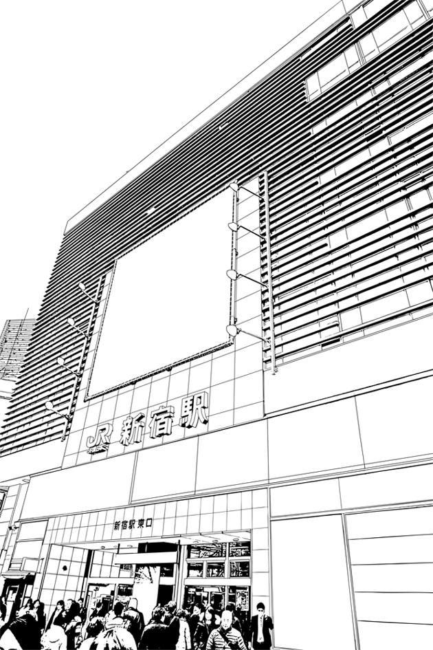 写真加工・漫画背景・新宿018