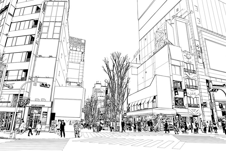 写真加工・漫画背景・新宿020