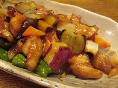 ホウボウとゴロゴロ野菜の甘酢あんかけ2