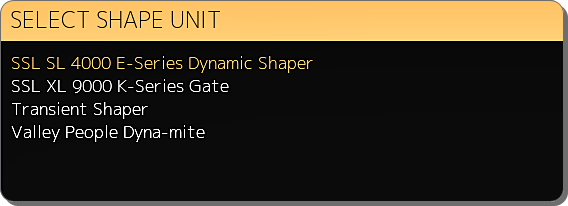 Dynamic Shape Select