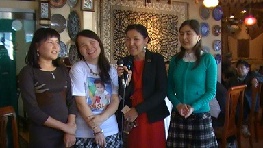 キルギス3人留学生