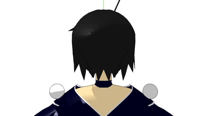 2016/01/27 髪型 後ろから見た図