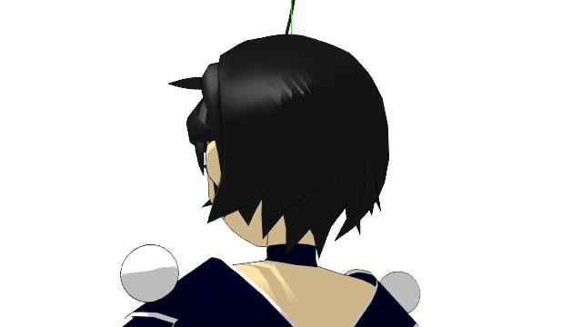 2016/02/04 MMDかずみモデル 後方から見た髪型