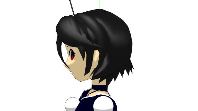 2016/02/04 MMDかずみモデル 横から見た髪型