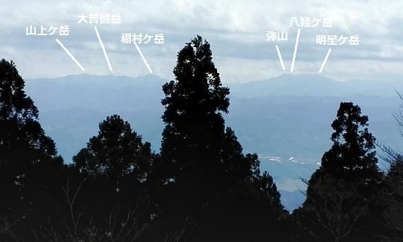 12 大峰山系の遠望