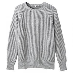 オーガニックコットン畦編みセーター