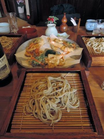 せいろ蕎麦と天ぷらの盛り合わせ