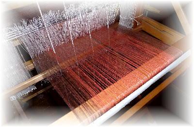 裂き織りマフラー33-3