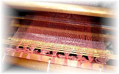 裂き織りマフラー33-4