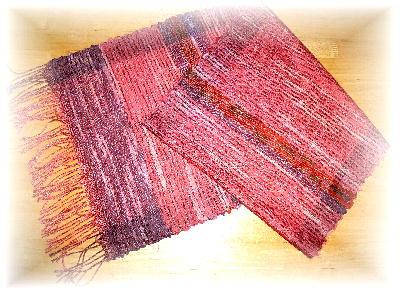 裂き織りマフラー33-5