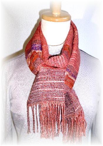 裂き織りマフラー33-8