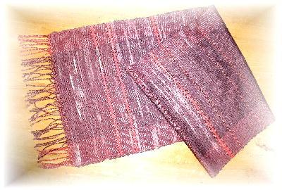 裂き織りマフラー36-1