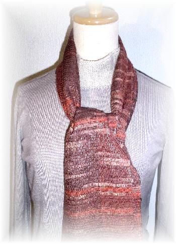 裂き織りマフラー36-5
