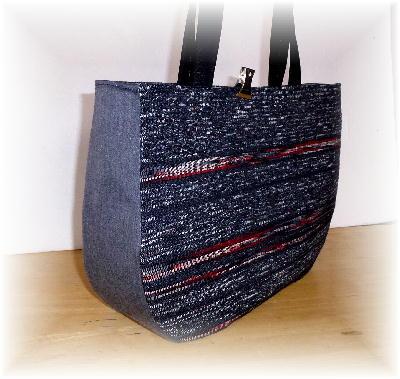 裂き織りバッグ8-8