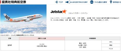 JALマイルはジェットスター・ジャパンの国際線も特典航空券での利用が可能に!